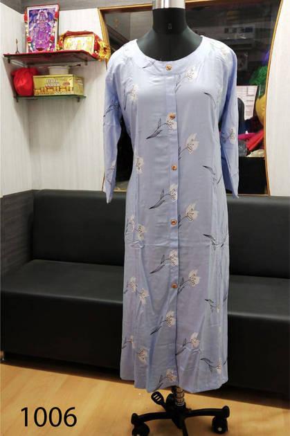 Avashya Rayon A-Line D1006 Kurti Size Set Wholesale 3 Pcs