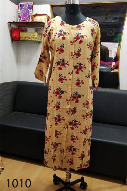 Avashya Rayon A-Line D1010 Kurti Size Set Wholesale 3 Pcs