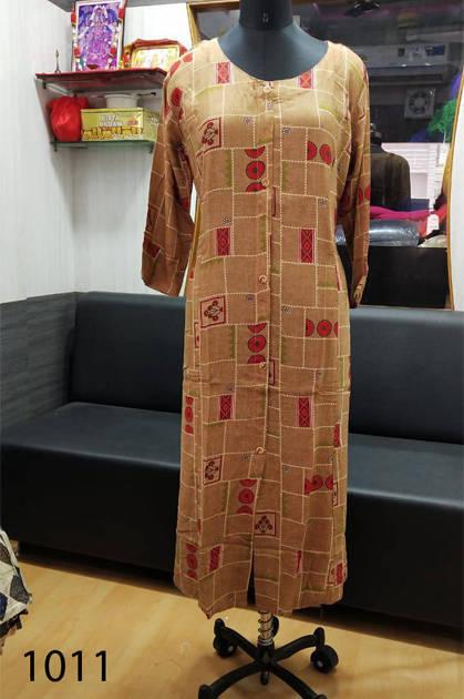 Avashya Rayon A Line D1011 Kurti Size Set Wholesale 3 Pcs - Avashya Rayon A-Line D1011 Kurti Size Set Wholesale 3 Pcs