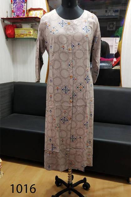 Avashya Rayon A-Line D1016 Kurti Size Set Wholesale 3 Pcs