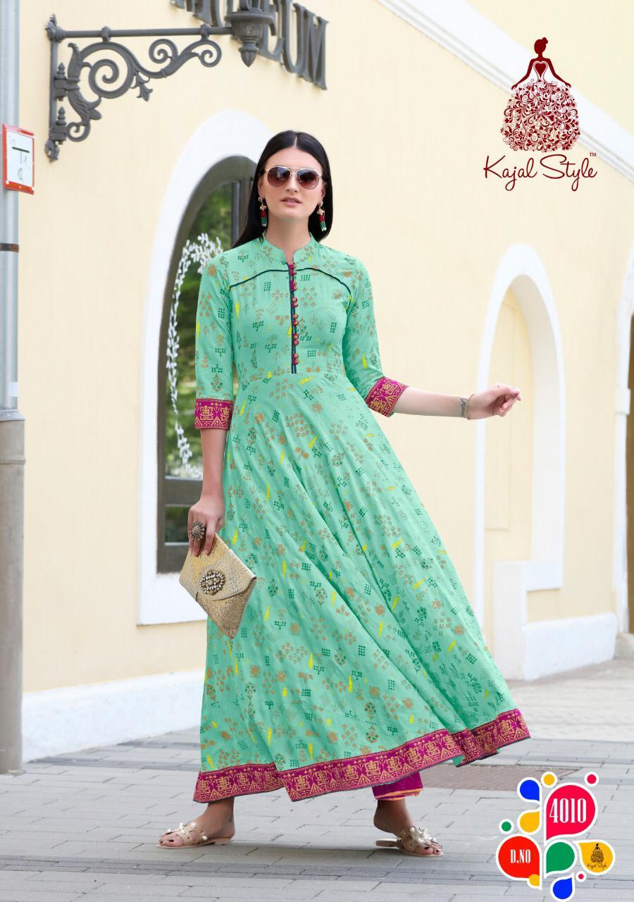 Kajal Style Fashion Colorbar Vol 4 Kurti Wholesale Catalog 10 Pcs 10 - Kajal Style Fashion Colorbar Vol 4 Kurti Wholesale Catalog 10 Pcs