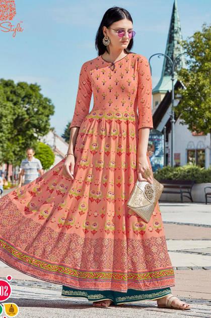 Kajal Style Fashion Colorbar Vol 4 Kurti Wholesale Catalog 10 Pcs