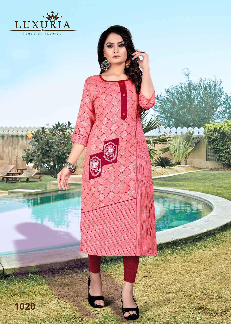Luxuria Orient Kurti Wholesale Catalog 5 Pcs 4 - Luxuria Orient Kurti Wholesale Catalog 5 Pcs