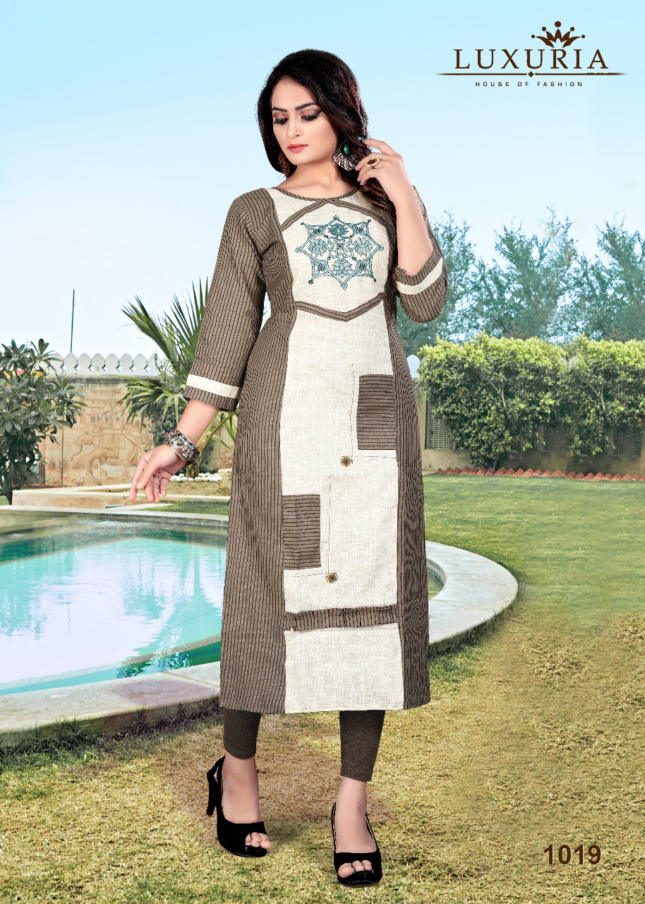 Luxuria Orient Kurti Wholesale Catalog 5 Pcs 5 - Luxuria Orient Kurti Wholesale Catalog 5 Pcs