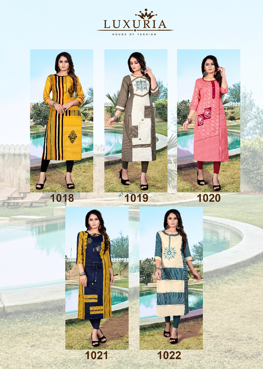 Luxuria Orient Kurti Wholesale Catalog 5 Pcs 7 - Luxuria Orient Kurti Wholesale Catalog 5 Pcs