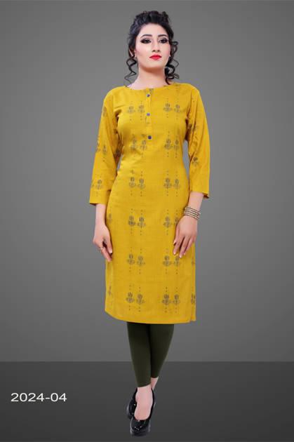 Avashya Rayon Straight 2024-04 Kurti Size Set Wholesale 3 Pcs