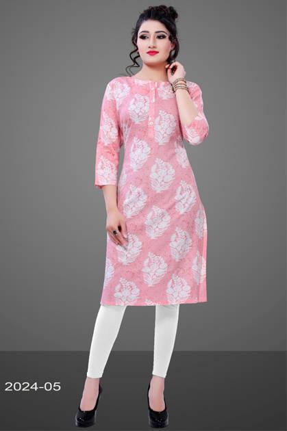 Avashya Rayon Straight 2024-05 Kurti Size Set Wholesale 3 Pcs