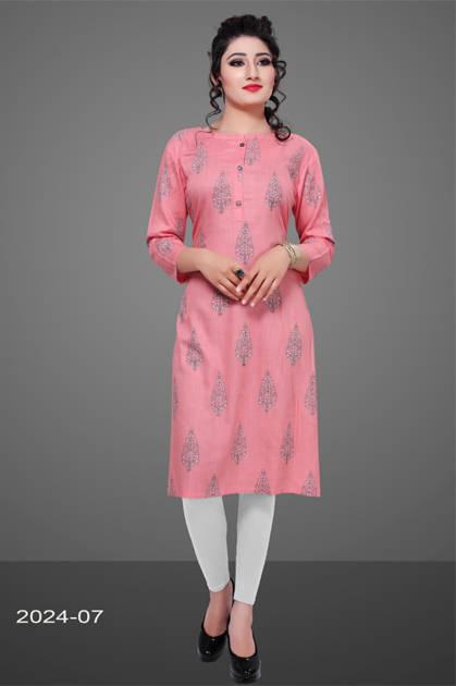 Avashya Rayon Straight 2024-07 Kurti Size Set Wholesale 3 Pcs