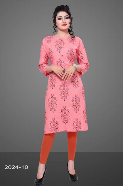 Avashya Rayon Straight 2024-10 Kurti Size Set Wholesale 3 Pcs