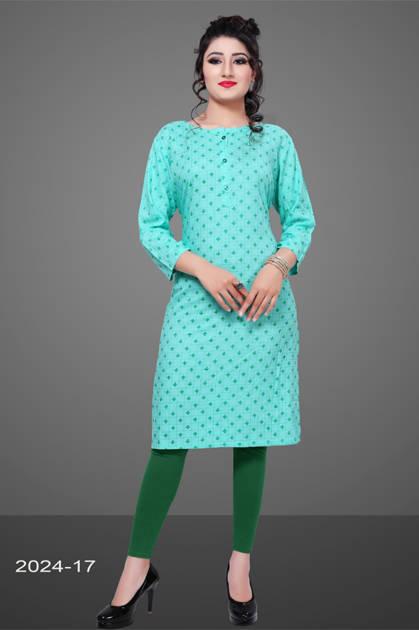 Avashya Rayon Straight 2024-17 Kurti Size Set Wholesale 3 Pcs