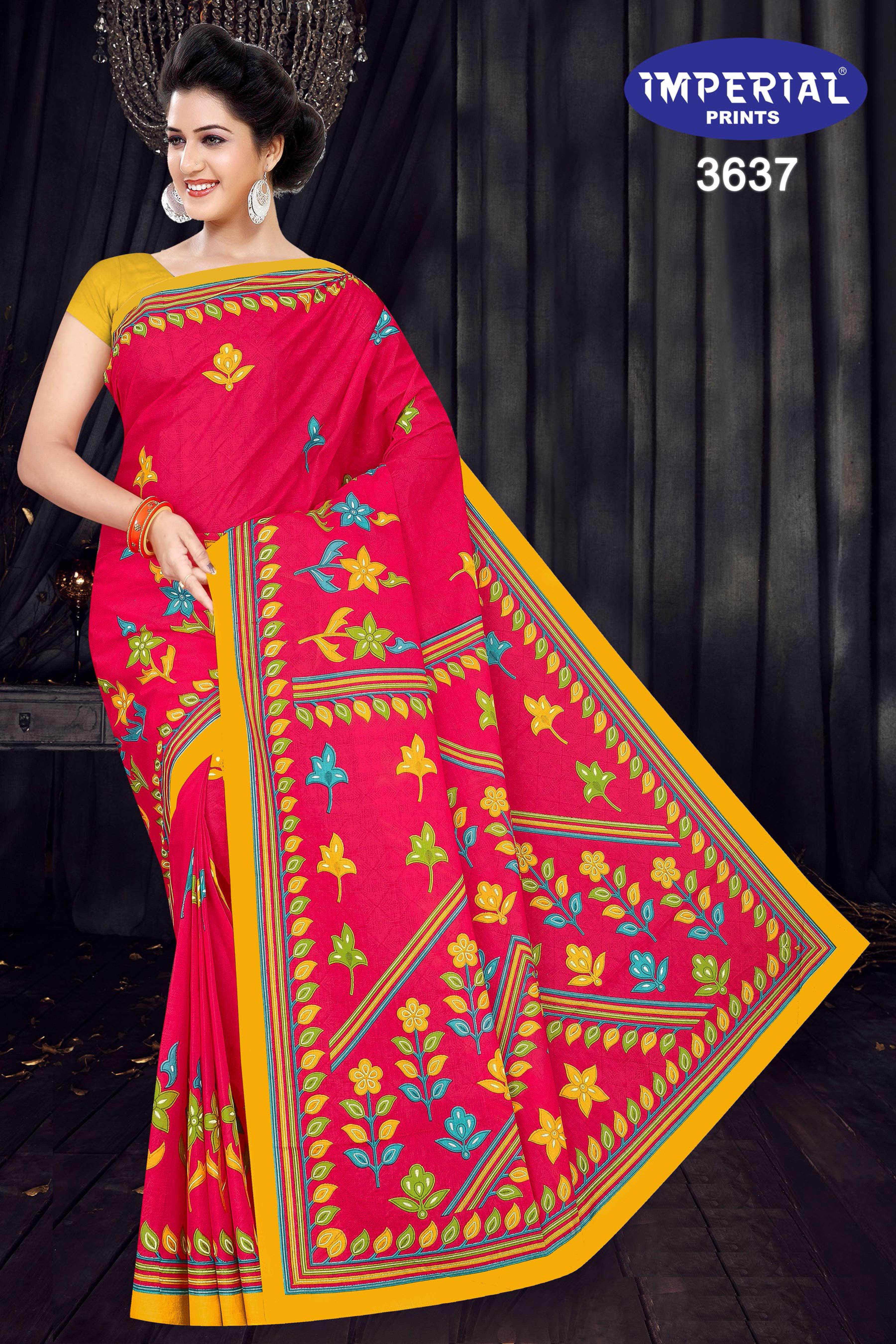 Imperial Mari Gold Saree Sari Wholesale Catalog 15 Pcs 8 - Imperial Mari Gold Saree Sari Wholesale Catalog 15 Pcs