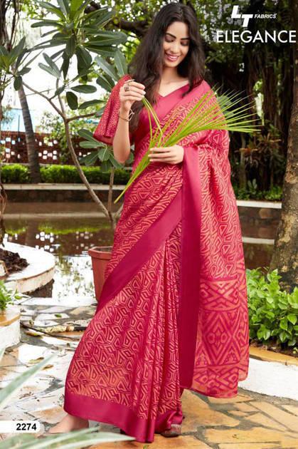 Lt Fabrics Elegance Vol 2 Saree Sari Wholesale Catalog 9 Pcs