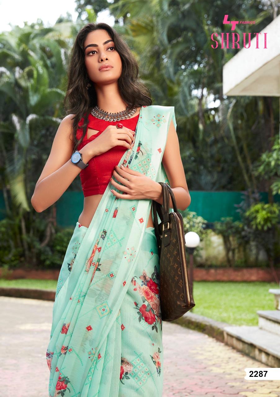 Lt Fabrics Shruti Saree Sari Wholesale Catalog 10 Pcs 14 - Lt Fabrics Shruti Saree Sari Wholesale Catalog 10 Pcs