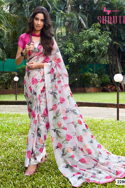 Lt Fabrics Shruti Saree Sari Wholesale Catalog 10 Pcs