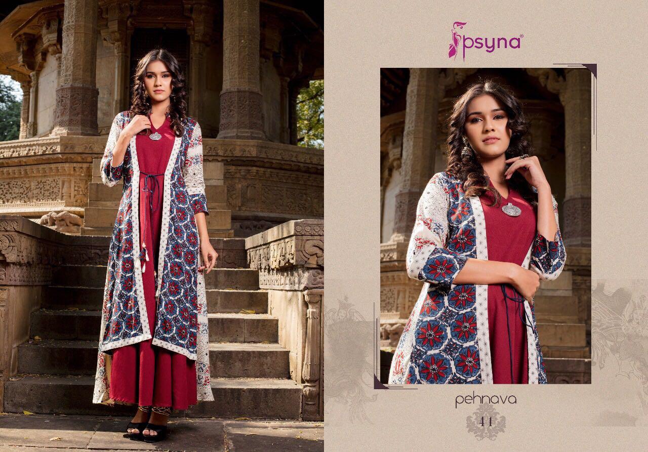 Psyna Pehnava Vol 4 Kurti Wholesale Catalog 10 Pcs 11 - Psyna Pehnava Vol 4 Kurti Wholesale Catalog 10 Pcs