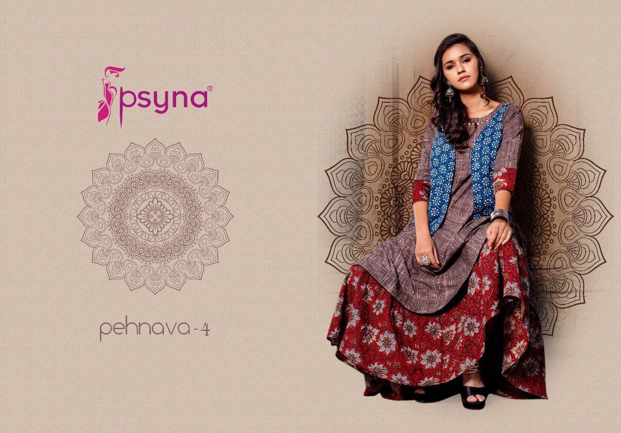 Psyna Pehnava Vol 4 Kurti Wholesale Catalog 10 Pcs 5 - Psyna Pehnava Vol 4 Kurti Wholesale Catalog 10 Pcs