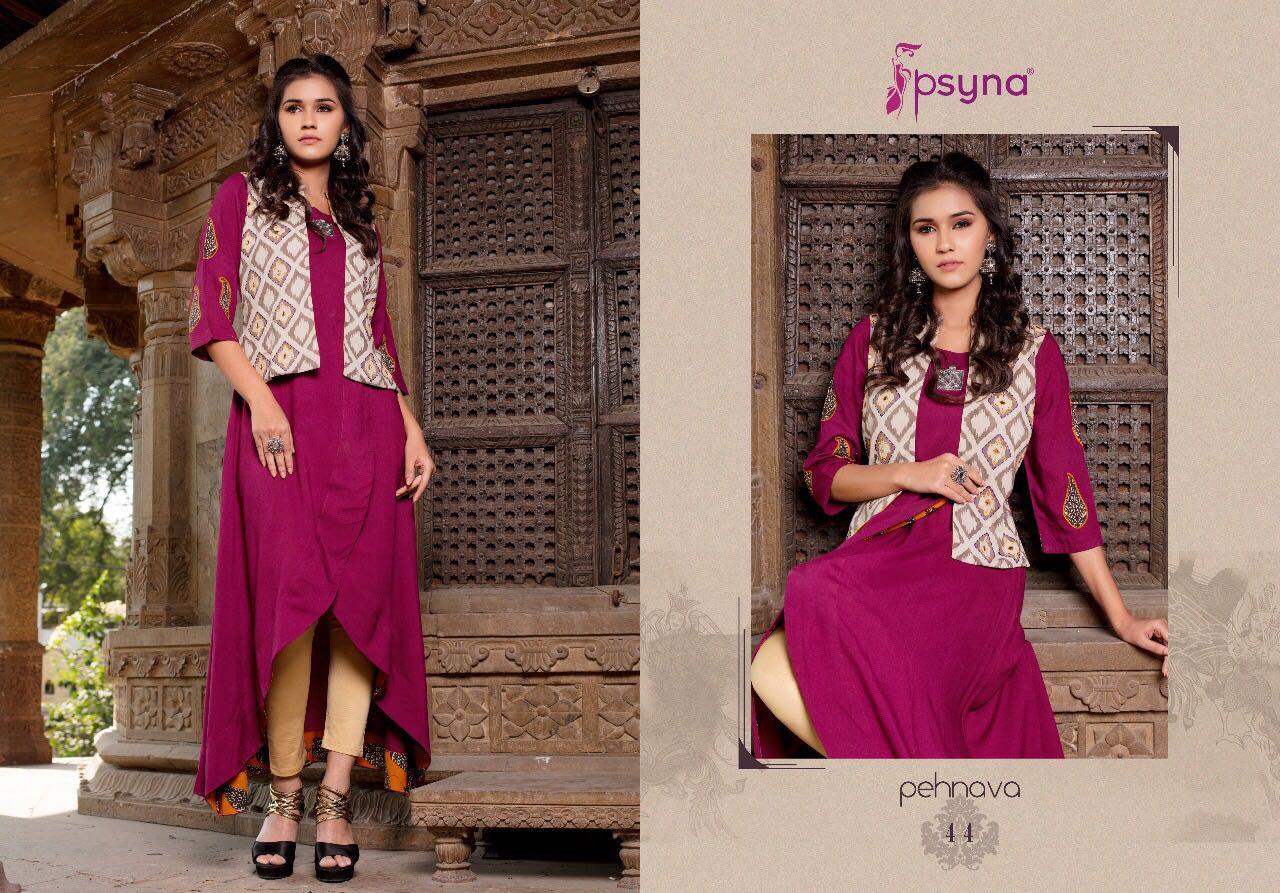 Psyna Pehnava Vol 4 Kurti Wholesale Catalog 10 Pcs 6 - Psyna Pehnava Vol 4 Kurti Wholesale Catalog 10 Pcs