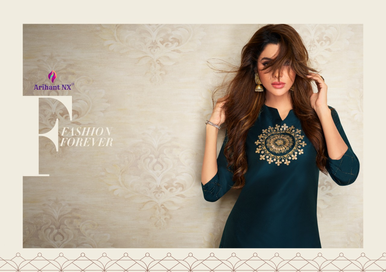 Arihant Nx Nazz Kurti with Palazzo Wholesale Catalog 8 Pcs 10 - Arihant Nx Nazz Kurti with Palazzo Wholesale Catalog 8 Pcs