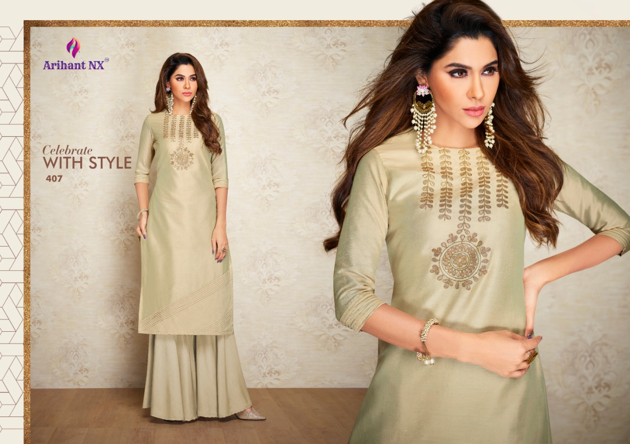 Arihant Nx Nazz Kurti with Palazzo Wholesale Catalog 8 Pcs 12 - Arihant Nx Nazz Kurti with Palazzo Wholesale Catalog 8 Pcs