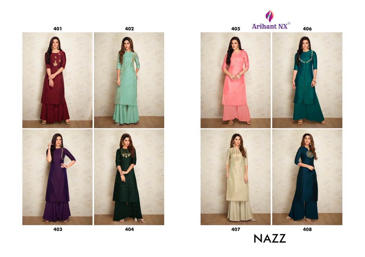 Arihant Nx Nazz Kurti with Palazzo Wholesale Catalog 8 Pcs 14 - Arihant Nx Nazz Kurti with Palazzo Wholesale Catalog 8 Pcs