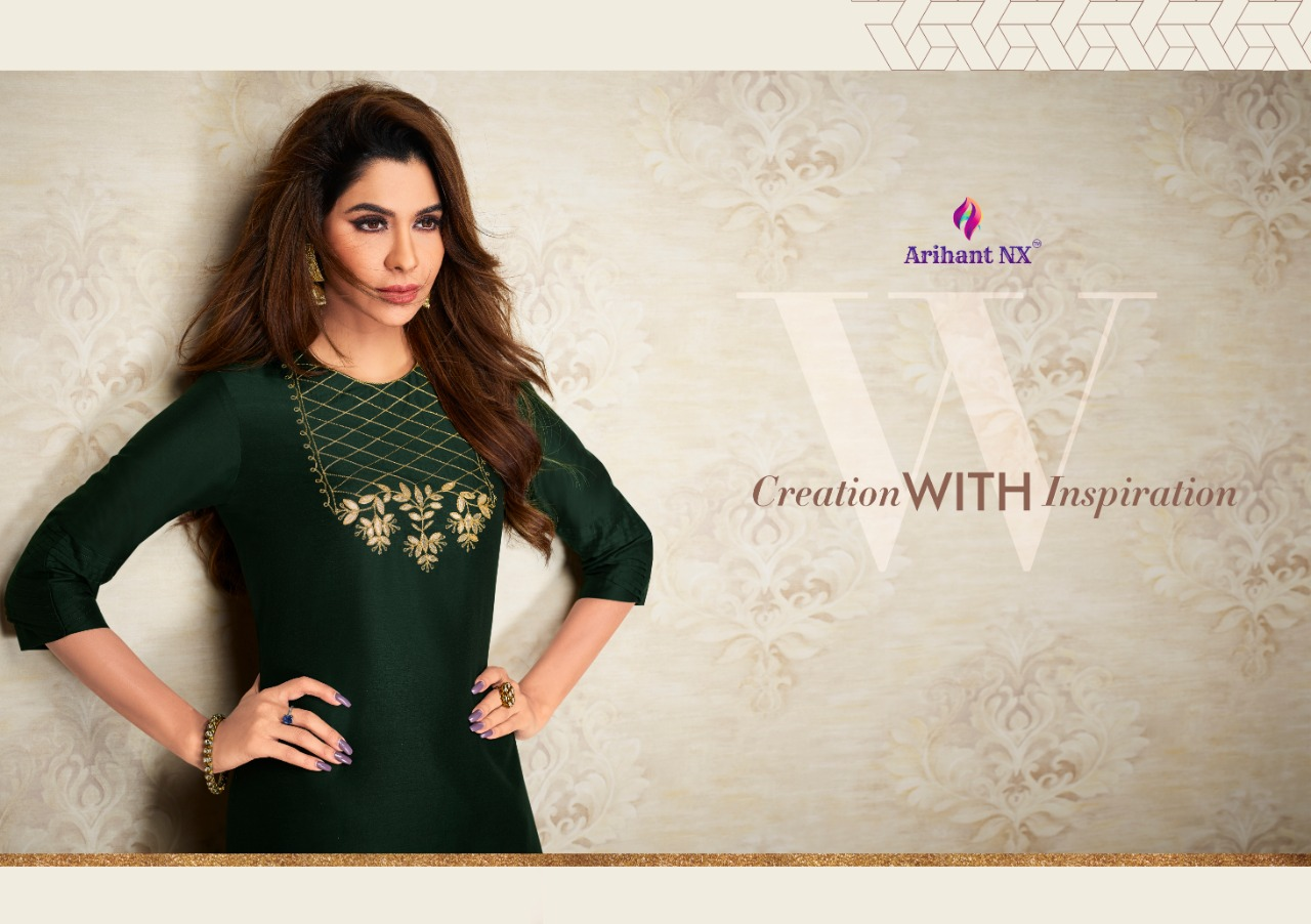 Arihant Nx Nazz Kurti with Palazzo Wholesale Catalog 8 Pcs 5 - Arihant Nx Nazz Kurti with Palazzo Wholesale Catalog 8 Pcs