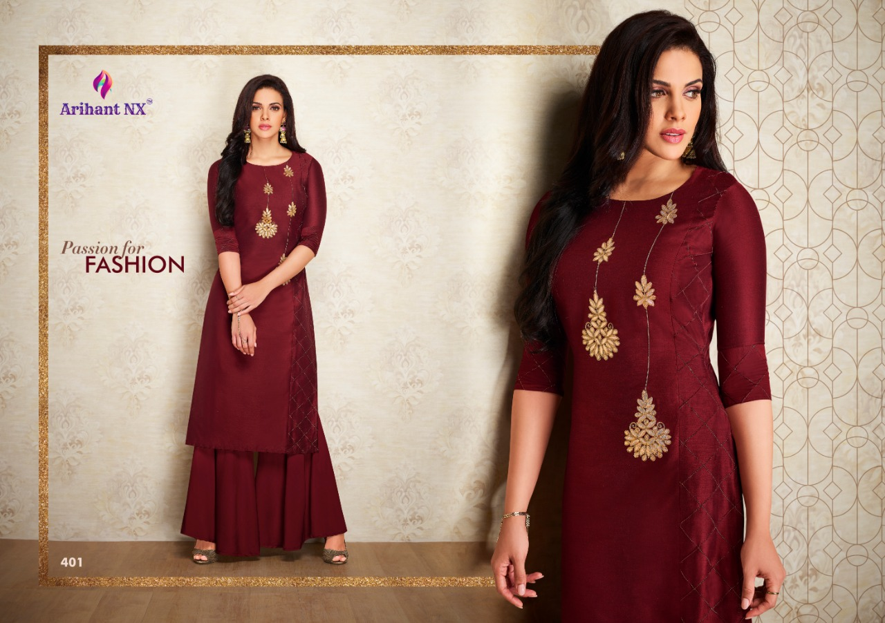 Arihant Nx Nazz Kurti with Palazzo Wholesale Catalog 8 Pcs 8 - Arihant Nx Nazz Kurti with Palazzo Wholesale Catalog 8 Pcs