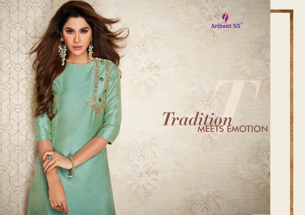 Arihant Nx Nazz Kurti with Palazzo Wholesale Catalog 8 Pcs 9 - Arihant Nx Nazz Kurti with Palazzo Wholesale Catalog 8 Pcs
