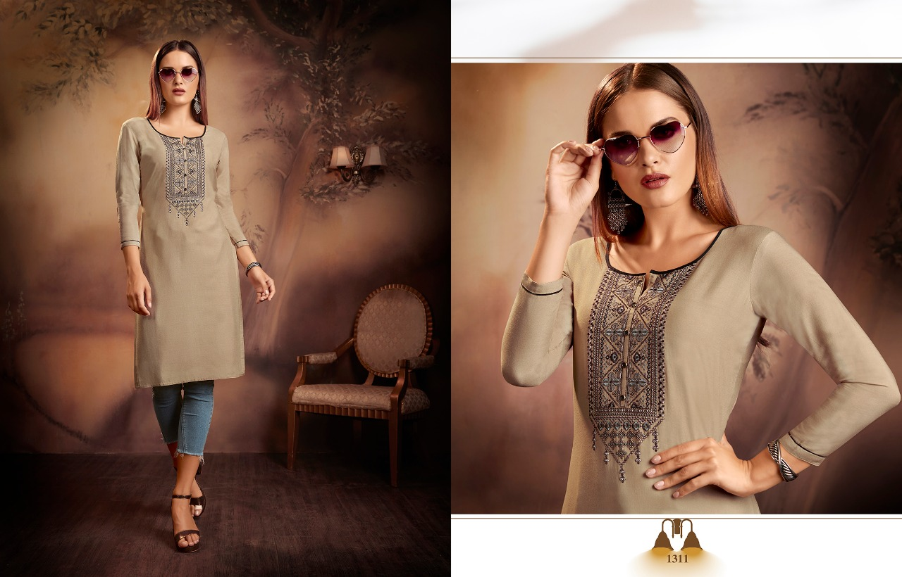 Kajree Lily Vol 15 Kurti Wholesale Catalog 12 Pcs 1 - Kajree Lily Vol 15 Kurti Wholesale Catalog 12 Pcs
