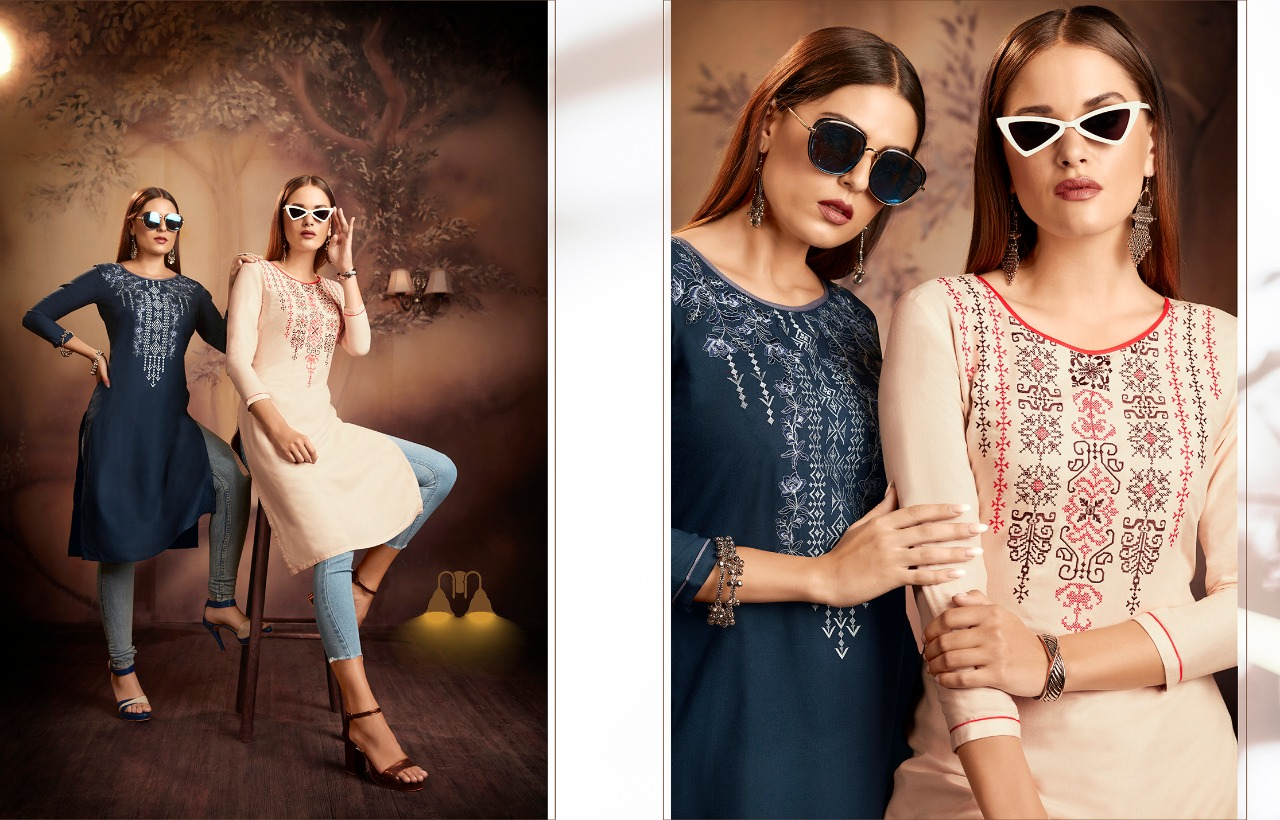 Kajree Lily Vol 15 Kurti Wholesale Catalog 12 Pcs 10 - Kajree Lily Vol 15 Kurti Wholesale Catalog 12 Pcs