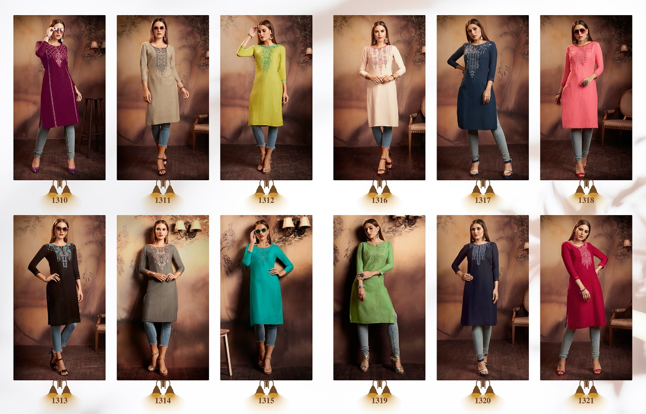 Kajree Lily Vol 15 Kurti Wholesale Catalog 12 Pcs 13 - Kajree Lily Vol 15 Kurti Wholesale Catalog 12 Pcs