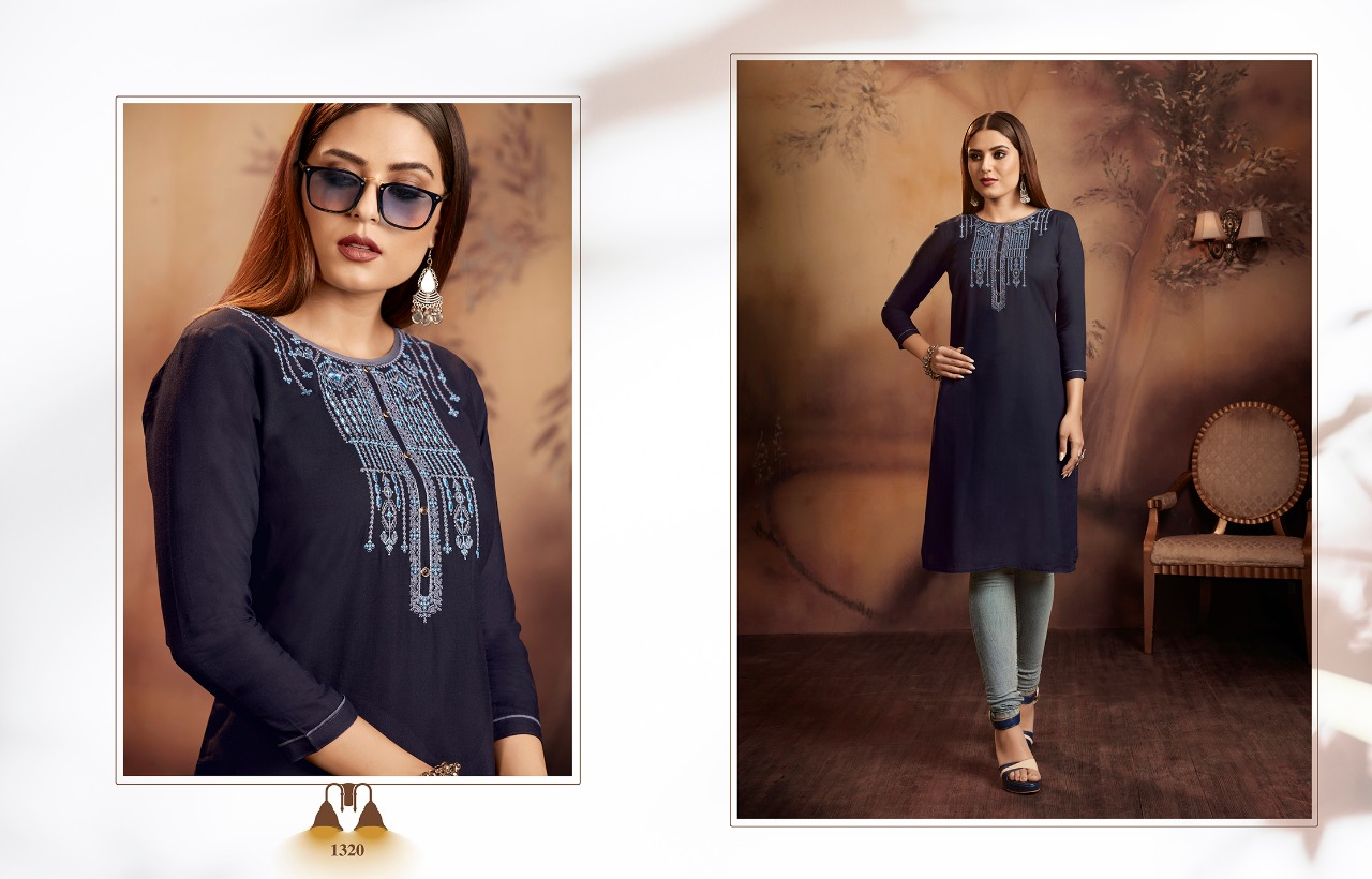 Kajree Lily Vol 15 Kurti Wholesale Catalog 12 Pcs 14 - Kajree Lily Vol 15 Kurti Wholesale Catalog 12 Pcs
