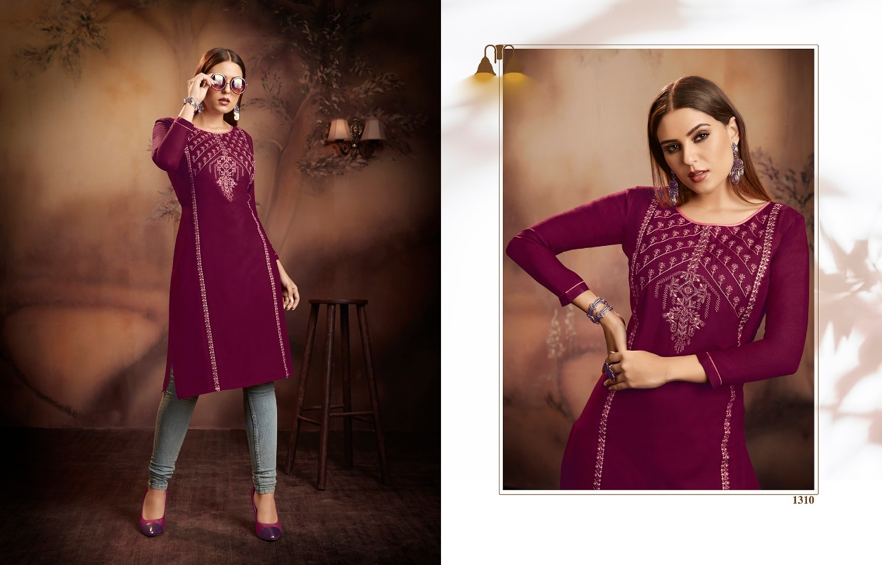 Kajree Lily Vol 15 Kurti Wholesale Catalog 12 Pcs 2 - Kajree Lily Vol 15 Kurti Wholesale Catalog 12 Pcs