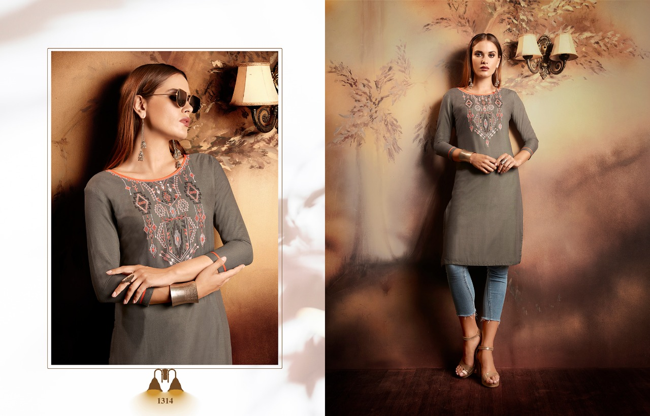 Kajree Lily Vol 15 Kurti Wholesale Catalog 12 Pcs 5 - Kajree Lily Vol 15 Kurti Wholesale Catalog 12 Pcs