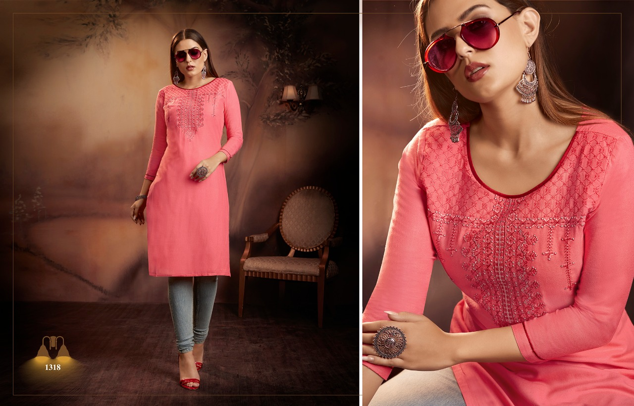 Kajree Lily Vol 15 Kurti Wholesale Catalog 12 Pcs 8 - Kajree Lily Vol 15 Kurti Wholesale Catalog 12 Pcs