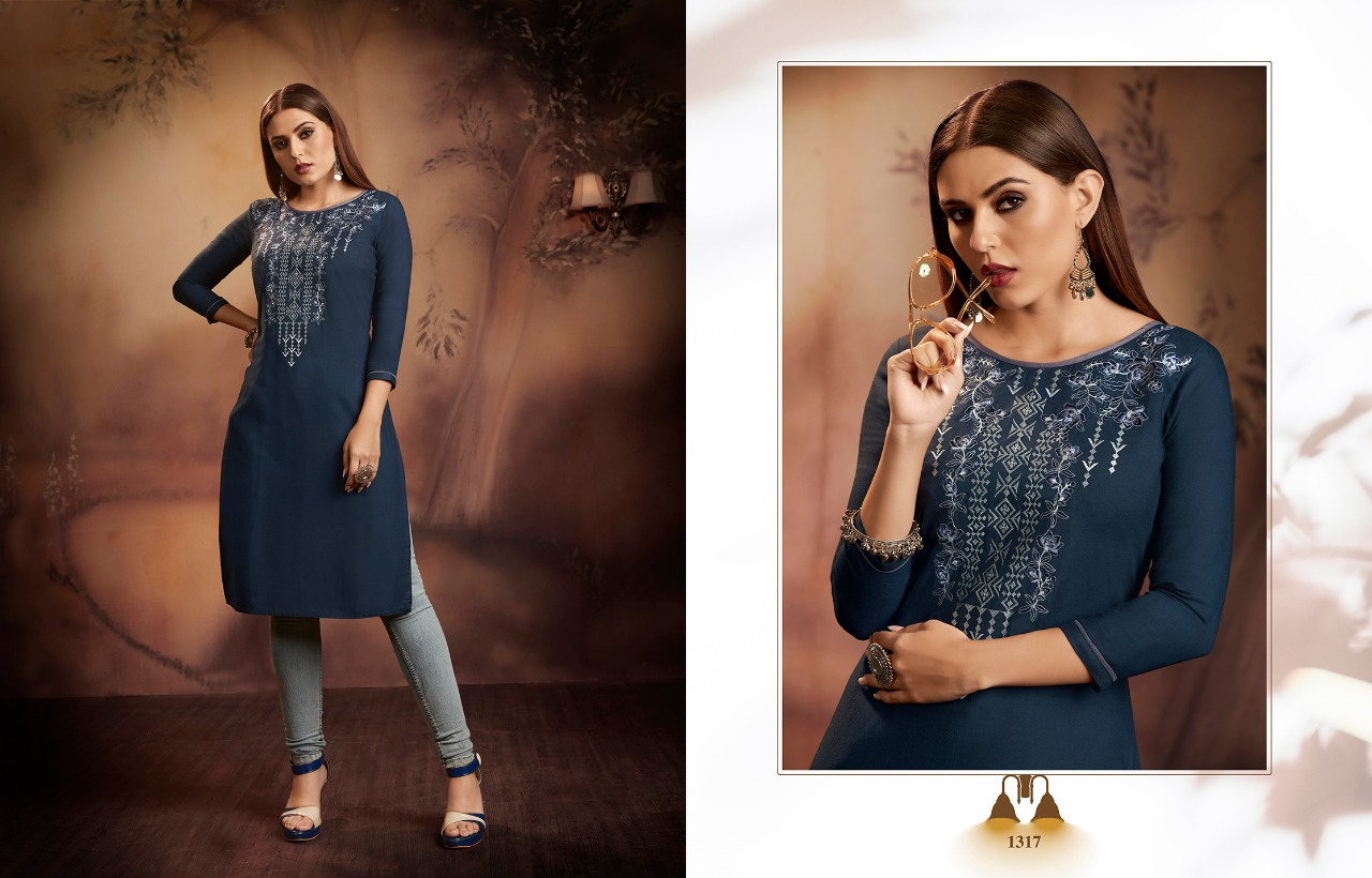 Kajree Lily Vol 15 Kurti Wholesale Catalog 12 Pcs 9 - Kajree Lily Vol 15 Kurti Wholesale Catalog 12 Pcs