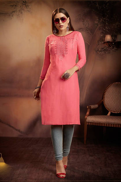 Kajree Lily Vol 15 Kurti Wholesale Catalog 12 Pcs