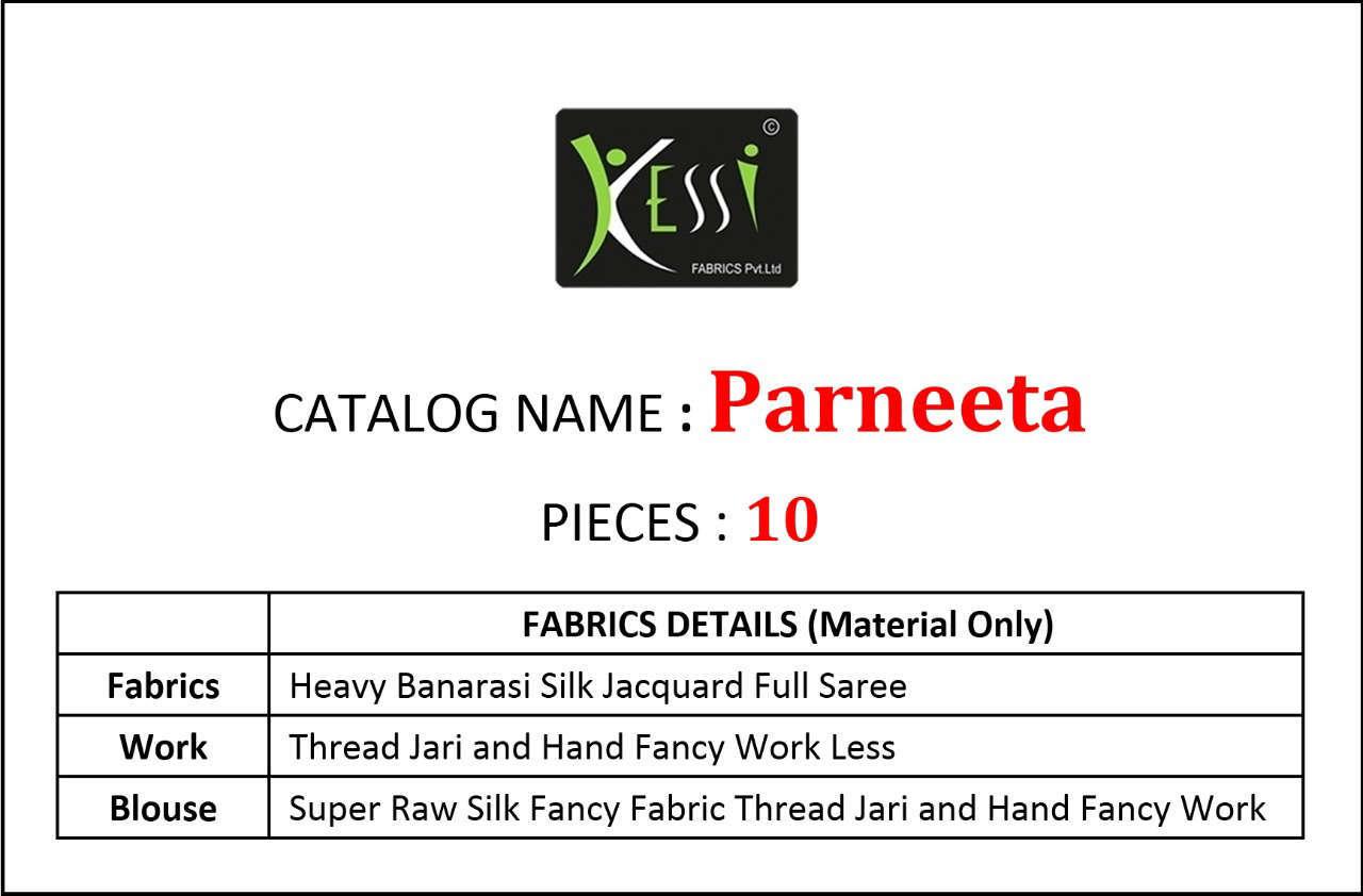 Kessi Parneeta Saree Sari Wholesale Catalog 10 Pcs 14 1 - Kessi Parneeta Saree Sari Wholesale Catalog 10 Pcs