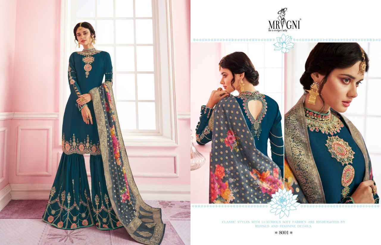 Mrigni Sarara Salwar Suit Wholesale Catalog 6 Pcs 2 - Mrigni Sarara Salwar Suit Wholesale Catalog 6 Pcs