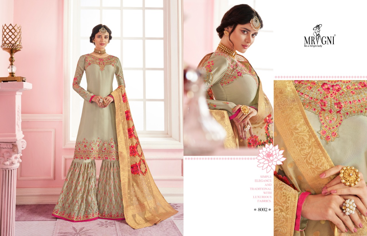 Mrigni Sarara Salwar Suit Wholesale Catalog 6 Pcs 3 - Mrigni Sarara Salwar Suit Wholesale Catalog 6 Pcs