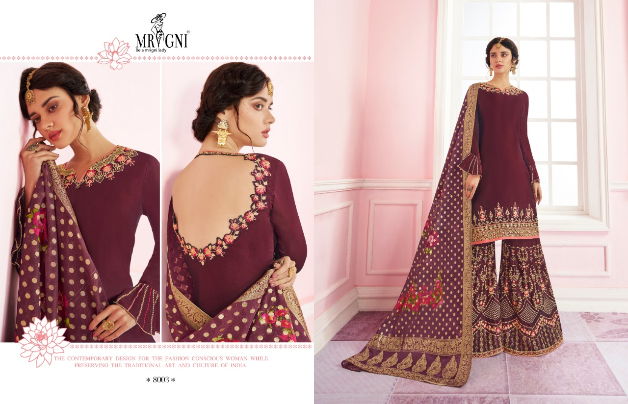 Mrigni Sarara Salwar Suit Wholesale Catalog 6 Pcs 4 - Mrigni Sarara Salwar Suit Wholesale Catalog 6 Pcs