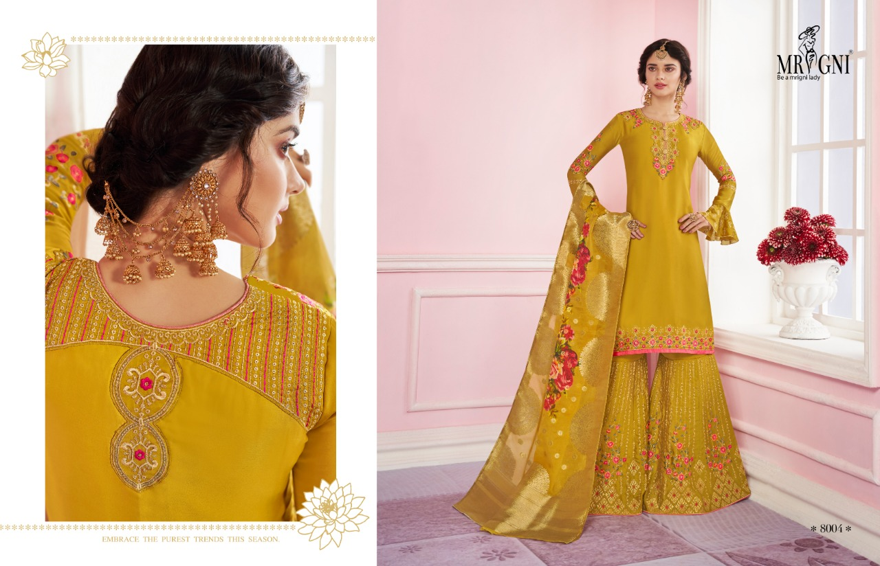 Mrigni Sarara Salwar Suit Wholesale Catalog 6 Pcs 5 - Mrigni Sarara Salwar Suit Wholesale Catalog 6 Pcs