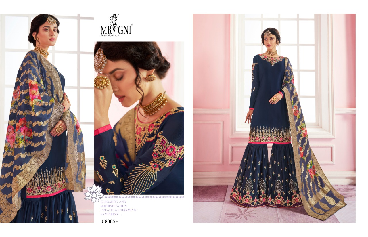 Mrigni Sarara Salwar Suit Wholesale Catalog 6 Pcs 6 - Mrigni Sarara Salwar Suit Wholesale Catalog 6 Pcs