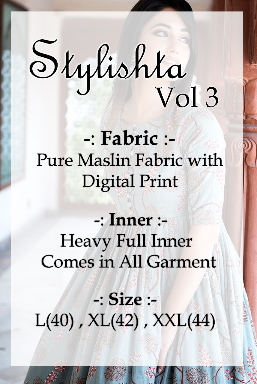 Tejaswee Stylishta Vol 3 Kurti Wholesale Catalog 6 Pcs 19 - Tejaswee Stylishta Vol 3 Kurti Wholesale Catalog 6 Pcs