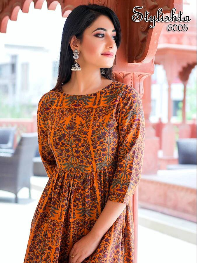 Tejaswee Stylishta Vol 4 Kurti Wholesale Catalog 6 Pcs 14 - Tejaswee Stylishta Vol 4 Kurti Wholesale Catalog 5 Pcs