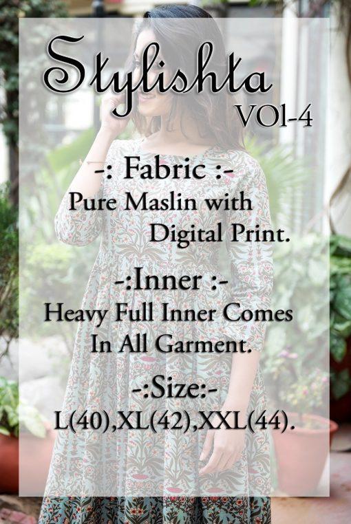 Tejaswee Stylishta Vol 4 Kurti Wholesale Catalog 6 Pcs 15 510x762 - Tejaswee Stylishta Vol 4 Kurti Wholesale Catalog 5 Pcs