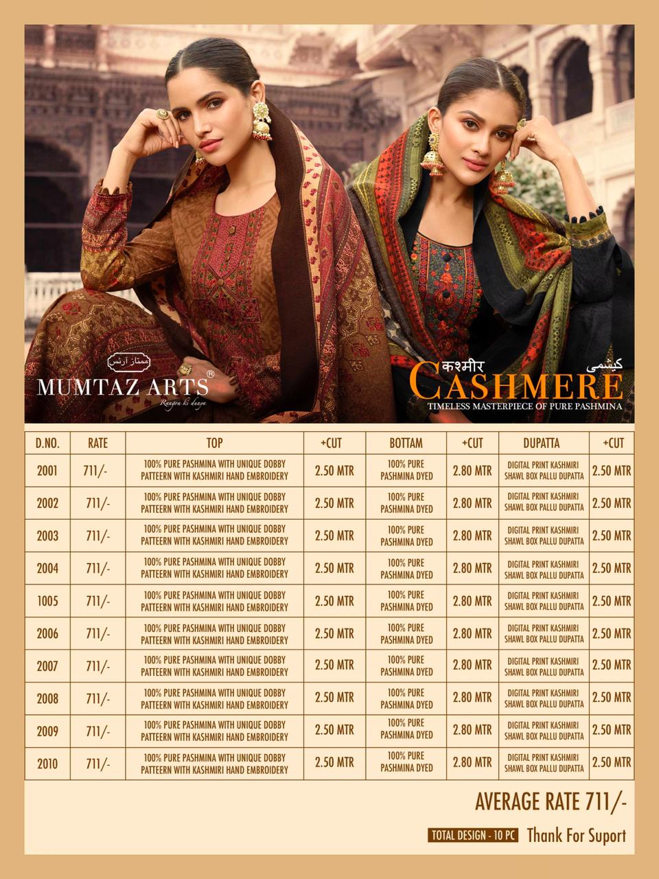 Mumtaz Arts Cashmere Pashmina Salwar Suit Wholesale Catalog 10 Pcs 16 - Mumtaz Arts Cashmere Pashmina Salwar Suit Wholesale Catalog 10 Pcs