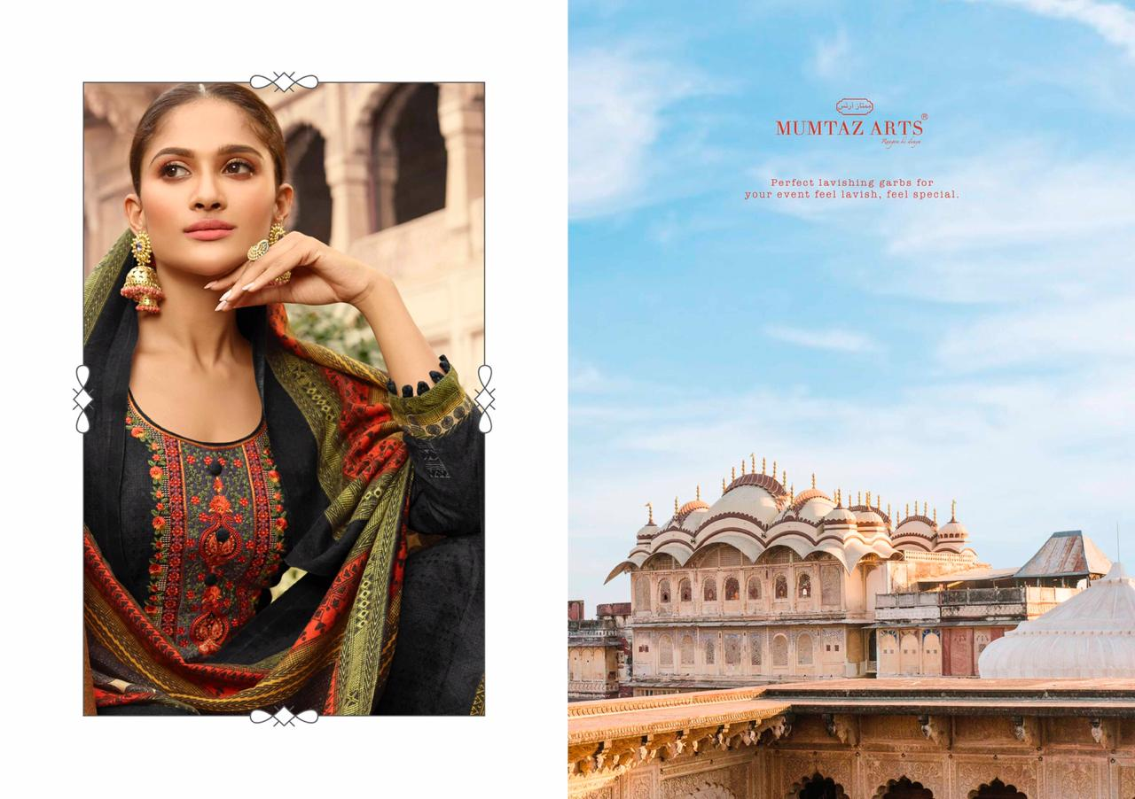 Mumtaz Arts Cashmere Pashmina Salwar Suit Wholesale Catalog 10 Pcs 8 - Mumtaz Arts Cashmere Pashmina Salwar Suit Wholesale Catalog 10 Pcs