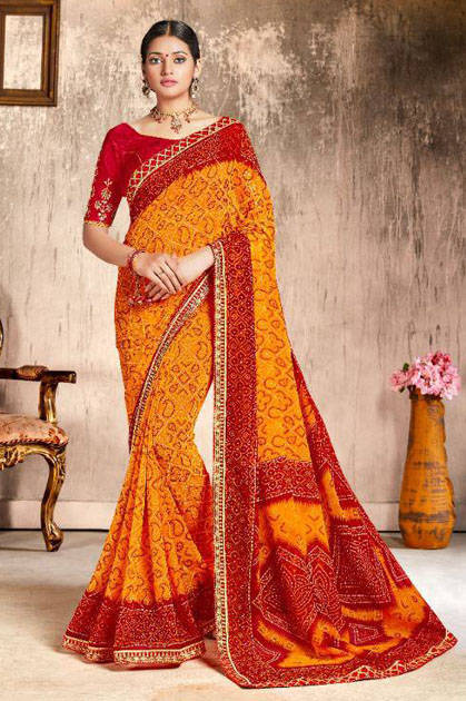Kessi Chunari Saree Sari Wholesale Catalog 8 Pcs