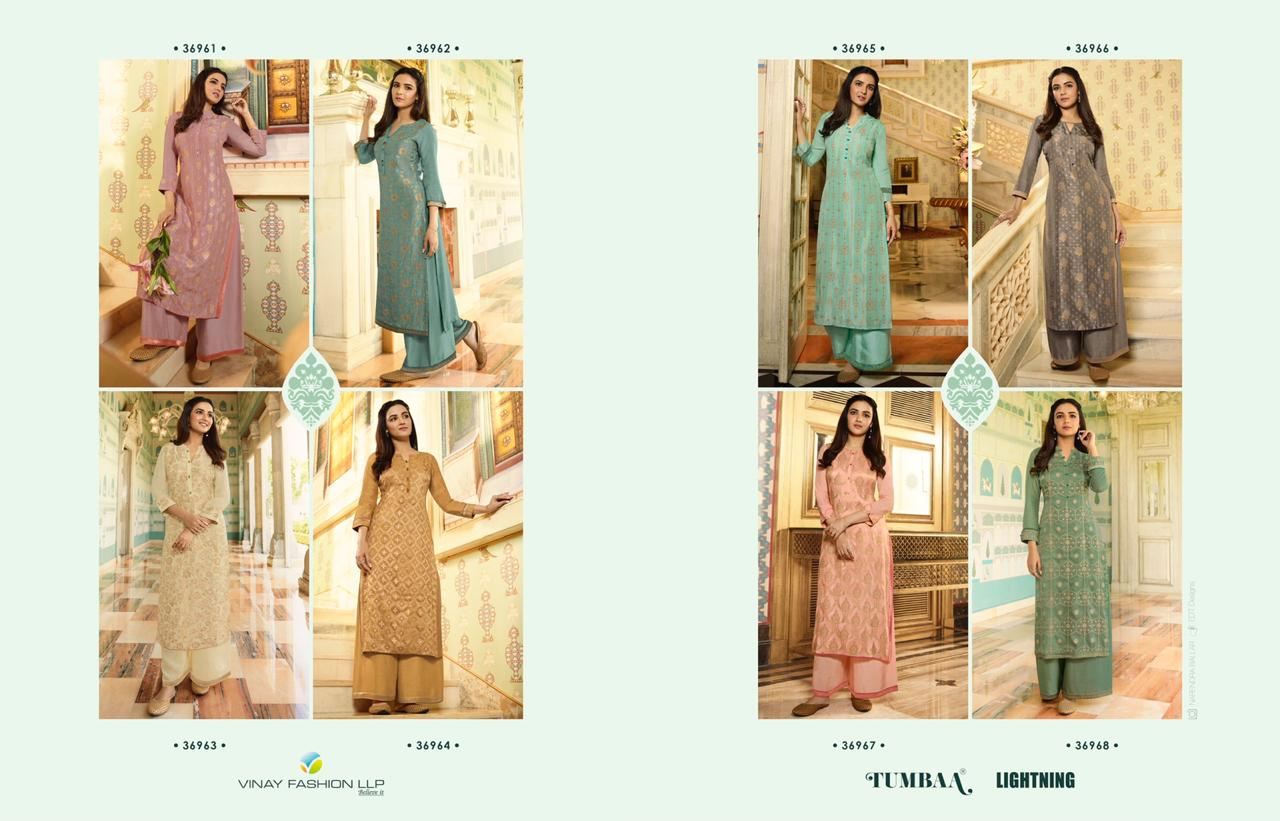 Vinay Tumbaa Lightning Kurti with Palazzo Wholesale Catalog 8 Pcs 15 - Vinay Tumbaa Lightning Kurti with Palazzo Wholesale Catalog 8 Pcs