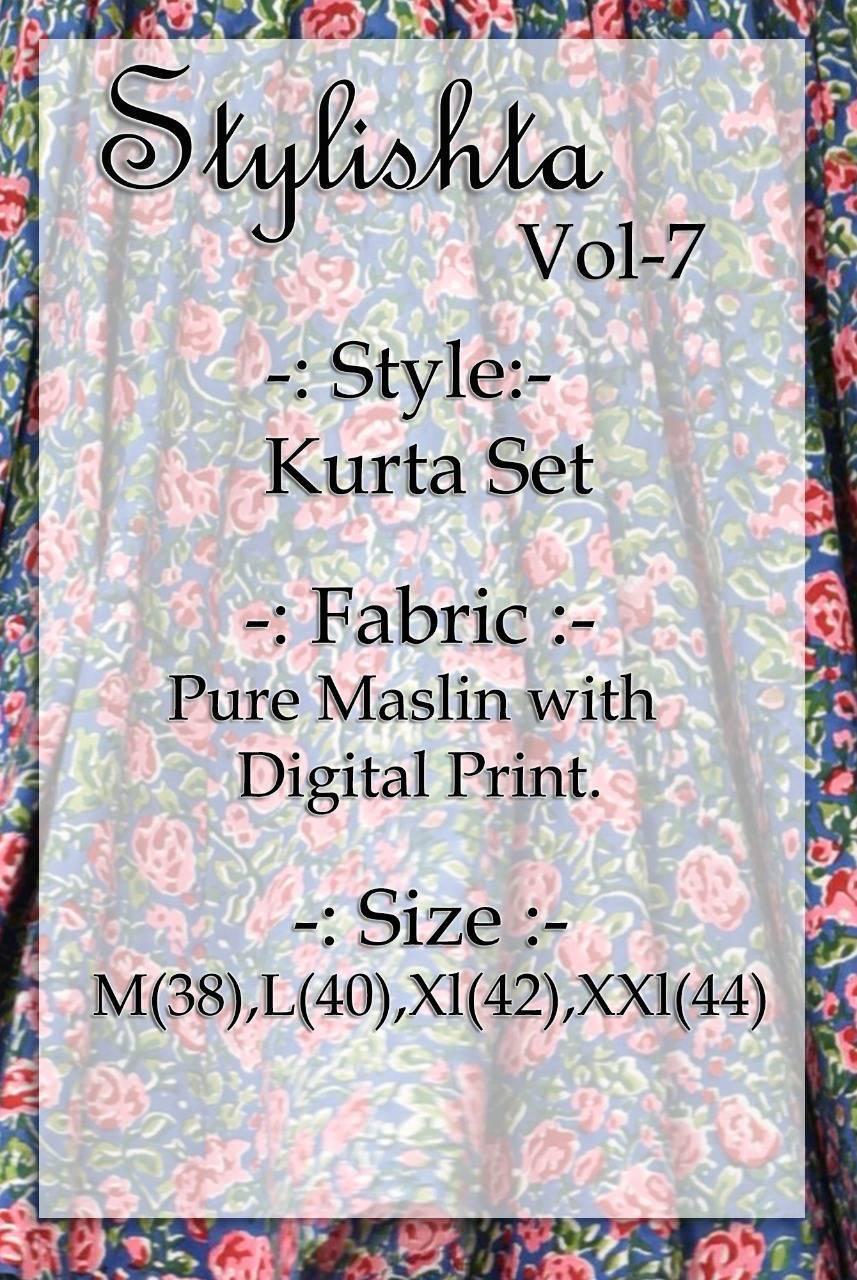 Tejaswee Stylishta Vol 7 Kurti Wholesale Catalog 8 Pcs 9 - Tejaswee Stylishta Vol 7 Kurti Wholesale Catalog 8 Pcs